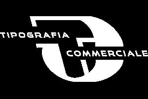 logo tipografia commerciale bianco